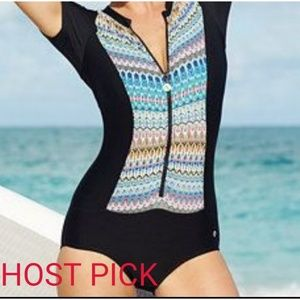 Next by Athena short sleeve one piece bathing suit